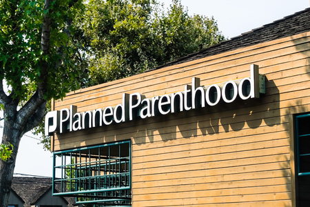 Mountain View / CA / USA - Planned Parenthood logo on one of their centers in south San Francisco bay area