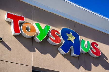 Sunnyvale  CA  USA - Toys R Us logo above the entrance to one of the stores in San Francisco bay area Editorial