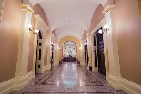 September 22, 2018 Sacramento  CA  USA - Empty hallway in the State Capitol building