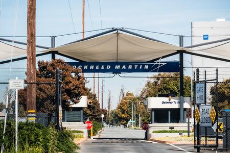 November 2, 2018 Sunnyvale  CA  USA - Entrance to the Lockheed Martin facilities locates in Silicon Valley; south San Francisco bay area