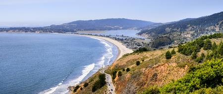 Aerial view of the Stinson Beach area of the Pacific Coastline, Marin County, north San Francisco bay area, California Reklamní fotografie