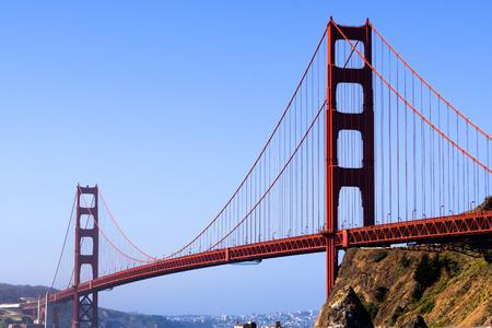 Morning view of Golden Gate Bridge, San Francisco, California Stock fotó