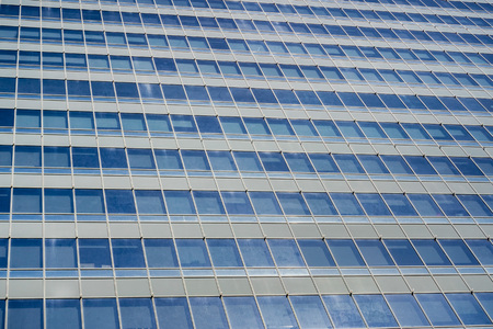 Facade of modern office building; background for corporate office work 写真素材