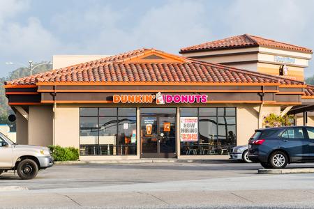 December 17, 2018 Half Moon Bay  CA  USA - Dunkin Donuts location in Half Moon Bay