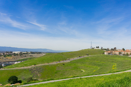 Landscape on Communications Hill, San Jose, California Archivio Fotografico