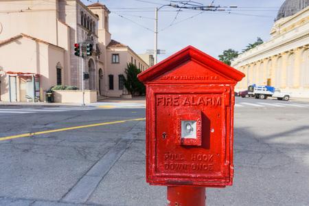 San Francisco Street Fire Alarm Stock Photo