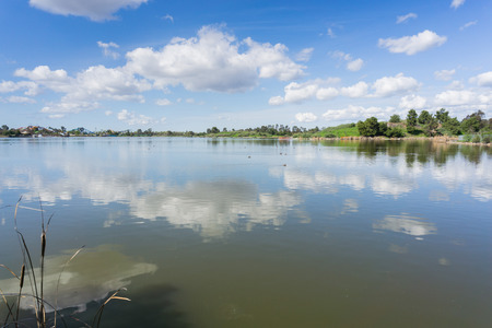 Cunningham Lake on a sunny day, San Jose, south San Francisco bay area, California Stock Photo
