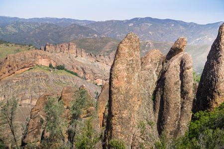 Rock formation in Pinnacles National Park, California