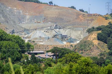 Active quarry, Cupertino, San Francisco bay area, California Stock Photo