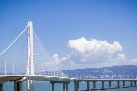 The bay bridge trail going from Yerba Buena Island to Oakland, San Francisco bay, California