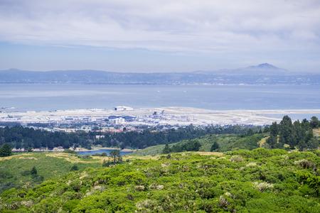 View towards San Francisco airport, California