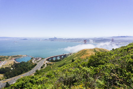 Golden Gate bridge and highway 101, San Francisco bay area, California Stock fotó