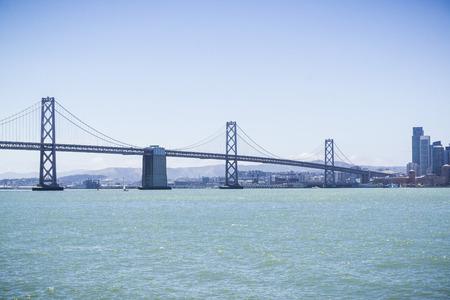 The Bay Bridge spanning from Yerba Buena Island to San Francisco