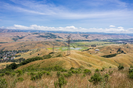 Hiking on the hills of south San Francisco bay, San Jose, California