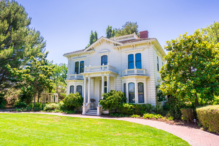 The historical Rengstorff House, Shoreline Lake and Park, Mountain View, California