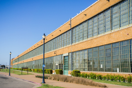 Historic Ford Assembly Building in Richmond,converted to a mixed-use property called Ford Point, housing businesses, a restaurant, light industrial and an entertainment space Editorial