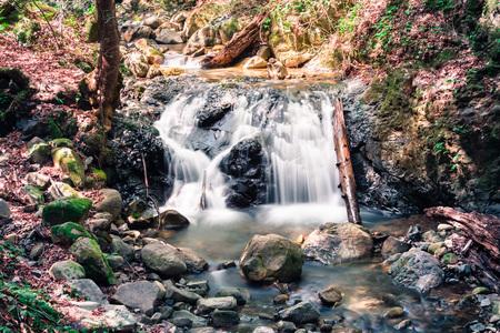 Waterfall in Uvas Canyon County Park, Santa Clara county, California; long exposure 版權商用圖片