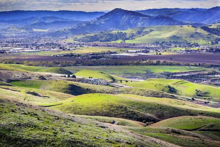 View towards Morgan Hill, south San Francisco bay area, California