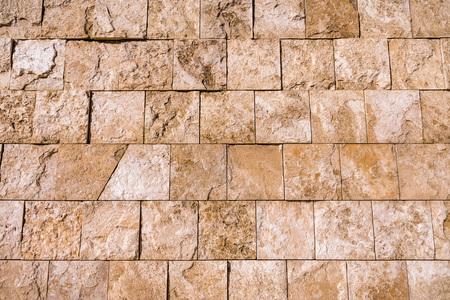 Close up of travertine stone wall