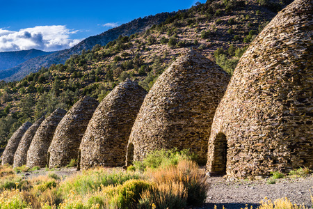 Charcoal Kilns (located in the Panamint Range) used in the production of coal from pine and juniper trees; Death Valley National Park, California