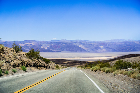 Driving towards Panamint Valley, Death Valley National Park, California