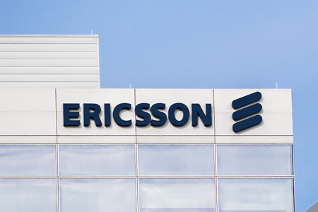 January 20, 2018 Santa Clara  CA  USA - Ericsson building located in Silicon Valley, south San Francisco bay area Редакционное