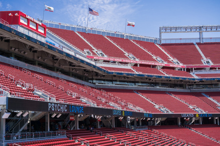 August 2, 2017 Santa ClaraCAUSA - Inside the new Levis Stadium, San Francisco bay area, California