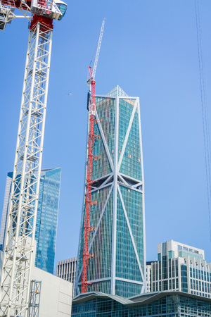 September 5, 2017 San FranciscoCAUSA - New offices and luxury condominiums skyscraper, 181 Fremont, rises in the South of Market district