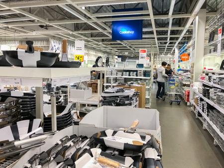 December 9, 2017 - East Palo Alto / CA / California - People shopping for cookware at IKEA, San Francisco bay area
