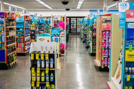May 23, 2018 Sunnyvale  CA  USA - Indoor view of one of the Walgreens stores Editorial