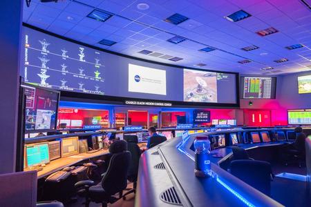 10. Juni 2018 La Canada Flintridge/CA/USA - Innenansicht des Mission Control Center am Jet Propulsion Laboratory (JPL) Editorial