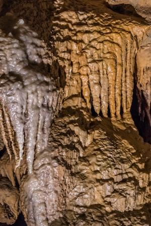 June 26, 2018 Lakehead / CA / USA - Beautifully shaped formations in Shasta Lake Caverns National National Landmark, Northern California Editorial