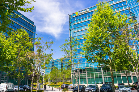 May 3, 2018 Sunnyvale  CA  USA - Microsoft offices located in Silicon Valley, south San Francisco bay area Editorial