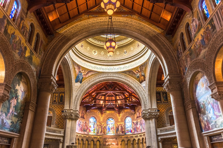 February 20, 2018 Palo Alto / CA / USA - Interior view of the Memorial Church, Stanford University, San Francisco bay area