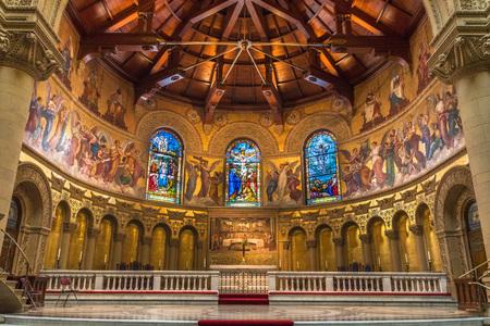 February 20, 2018 Palo Alto / CA / USA - Interior view of the Memorial Church, Stanford University, San Francisco bay area Editorial
