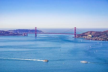 Golden Gate bridge see from Angel Island, California