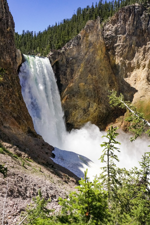 Lower falls, Yellowstone National Park, Wyoming