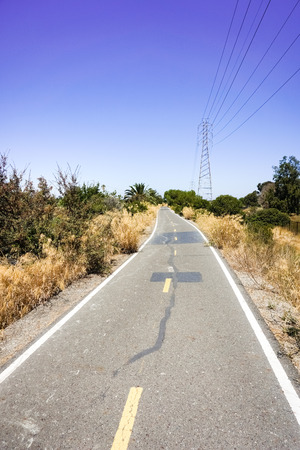 Bicycle track, Bay Trail, Palo Alto, California