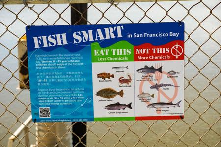 San Francisco Bay Area, September 2016 - Guidance from California Department of Public Health regarding safe fish to eat, California