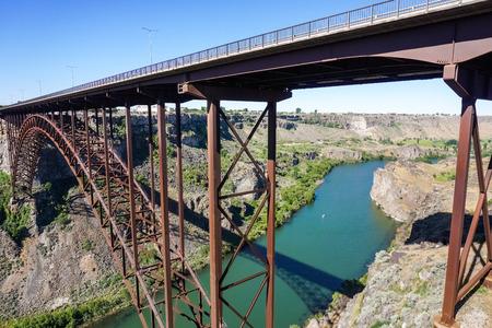 Perrine Bridge over Snake River, in the morning, Idaho