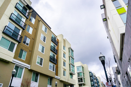 Residential modern buildings, San Francisco bay area, California Stock Photo