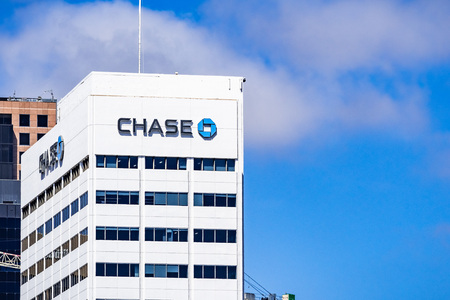March 19, 2019 San Diego  CA  USA - Chase bank offices in downtown San Diego Publikacyjne