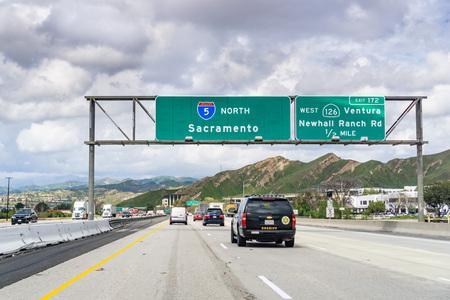 March 20, 2019 Los Angeles  CA  USA - Travelling on I5 towards Sacramento