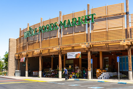 May 2, 2019 Cupertino  CA  USA - Whole Foods Market store located in south San Francisco bay area