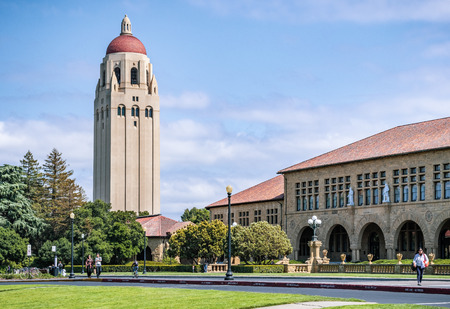 May 9, 2019 Palo Alto / CA / USA - Exterior view of the Main Quad at Stanford University Editorial