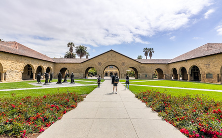 May 9, 2019 Palo Alto / CA / USA - The Memorial Court at Stanford