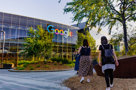 June 8, 2019 Mountain View  CA  USA - Google office building in the Companys campus in Silicon Valley; The