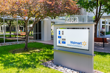 June 1, 2019 Sunnyvale / CA / USA - Walmart Global eCommerce offices in a business park located in Silicon Valley Editorial