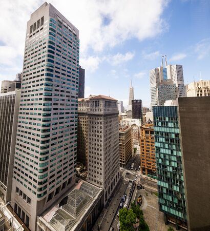 New and old skyscrapers and high rise buildings in downtown San Francisco Zdjęcie Seryjne