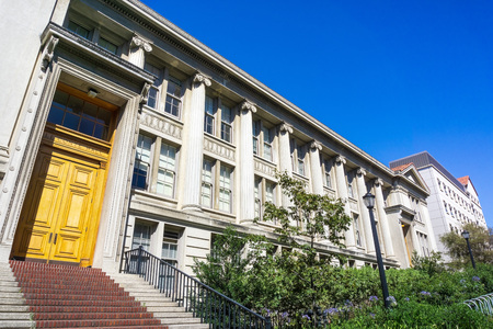 July 13, 2019 Berkeley / CA / USA - LeConte Hall in the campus of UC Berkeley is home to the physics department; LeConte Hall has been host to eight Physics Nobel Prize–winning faculty and four alumni
